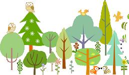 森と動物たち