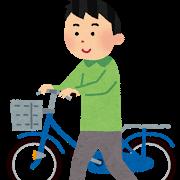 自転車を押している人のイラスト