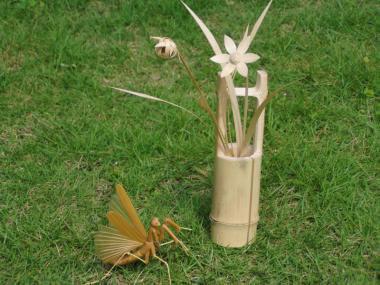 竹細工「花生け」つくり