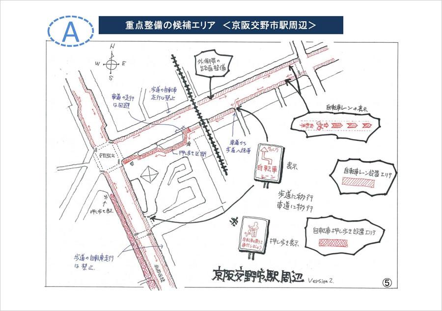 重点整備の候補エリア<京阪交野市駅周辺>
