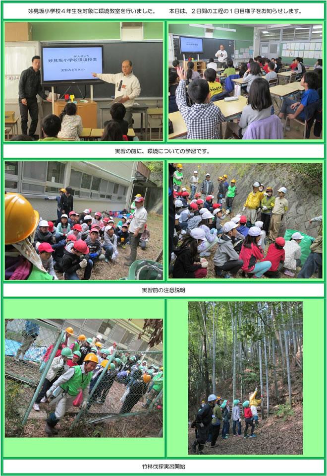妙見坂小学校4年生環境学習風景①