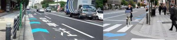 自転車レーンの設置例(他地区)