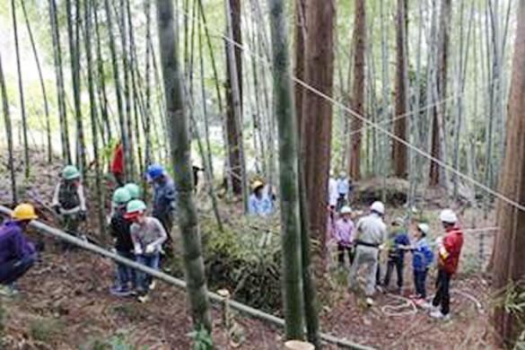 2日目:竹工作授業のようす