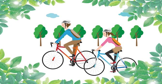 新緑の道と植物園へ  自転車散歩に出かけよう!