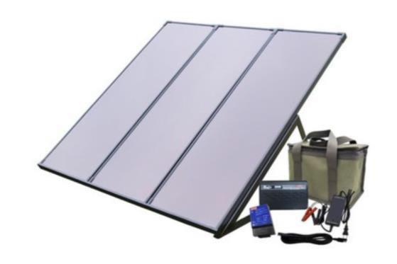 回の体験会で組み立てたミニ太陽光発電装置(発電容量:20W)
