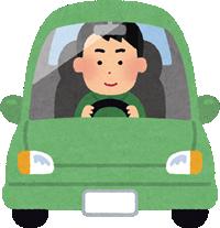 運転中の車のイラスト